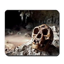 Homo floresiensis skull Mousepad
