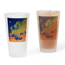 Europe Drinking Glass
