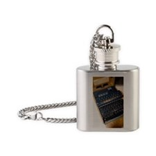 Enigma code machine Flask Necklace