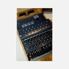 Enigma code machine Rectangle Magnet