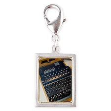Enigma code machine Silver Portrait Charm