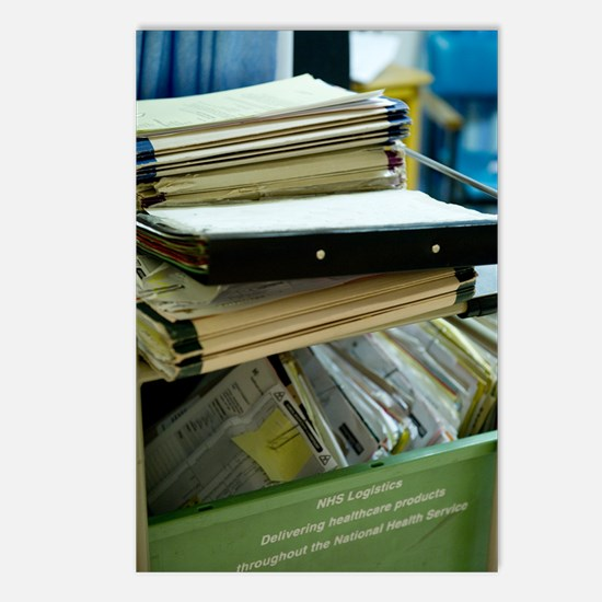 Hospital medical records Postcards (Package of 8)