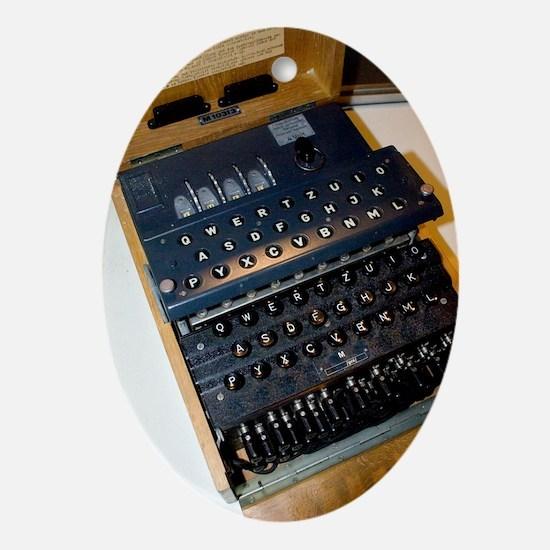 Enigma code machine Oval Ornament