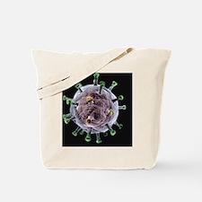 Herpes virus particle, artwork Tote Bag