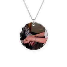 Elderly couple holding hands Necklace