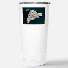 Easter Island, satellite image Travel Mug