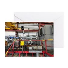 Electricity production facility Greeting Card
