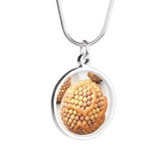 High cholesterol levels Silver Round Necklace