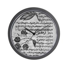 Herbal medicine, 8th century Wall Clock