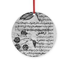Herbal medicine, 8th century Round Ornament