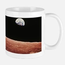 Earthrise as seen from above surface of Mug