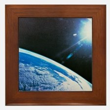 Earth from space Framed Tile
