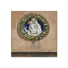 "Madonna and child house pla Square Sticker 3"" x 3"""