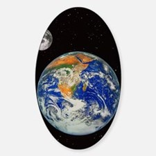 Earth and moon Decal