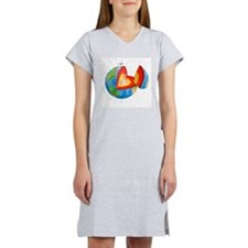 Earth's magnetic field Women's Nightshirt