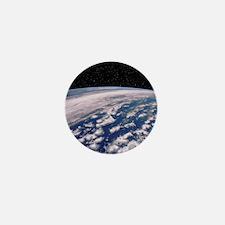 Earth with starfield Mini Button