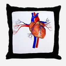 Heart, artwork Throw Pillow