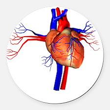 Heart, artwork Round Car Magnet