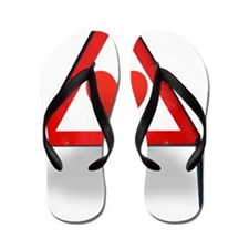 Heart health, conceptual artwork Flip Flops