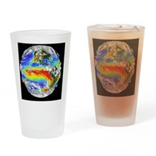 Earth's 3-D cloud cover Drinking Glass