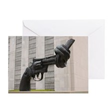 Gun sculpture at United Nations New  Greeting Card