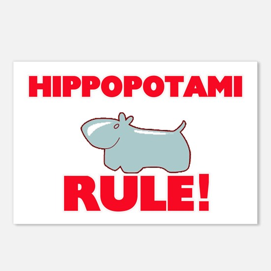 Hippopotami Rule! Postcards (Package of 8)