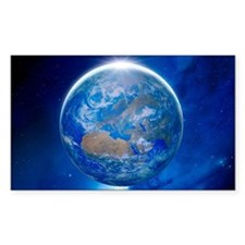 Earth from space, artwork Decal
