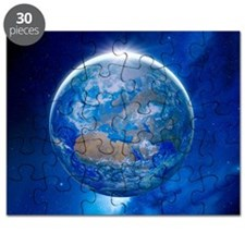 Earth from space, artwork Puzzle