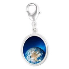 Earth Silver Oval Charm