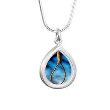 Hangman's noose Silver Teardrop Necklace