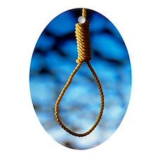 Hangman's noose Oval Ornament