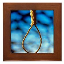 Hangman's noose Framed Tile