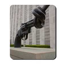 Gun sculpture at United Nations New York Mousepad