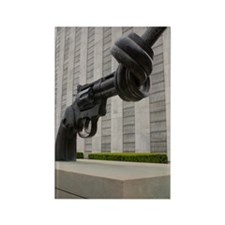 Gun sculpture at United Nations N Rectangle Magnet