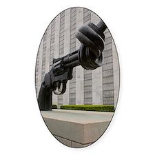 Gun sculpture at United Nations New Bumper Stickers