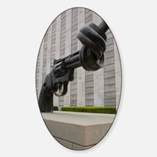 Gun sculpture at United Nations New Decal