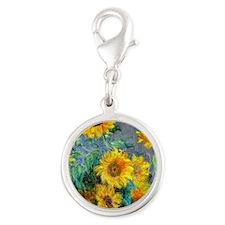 Jewelry Monet Sunf Silver Round Charm