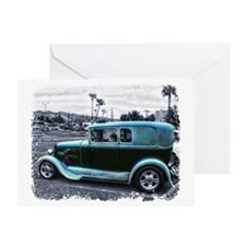 Mafia Staff Antique Car Greeting Card