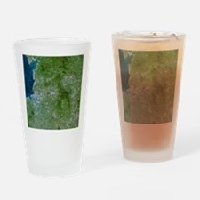 Greater Manchester, satellite image Drinking Glass
