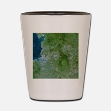 Greater Manchester, satellite image Shot Glass