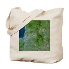 Greater Manchester, satellite image Tote Bag