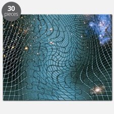 Gravity waves in space-time, artwork Puzzle