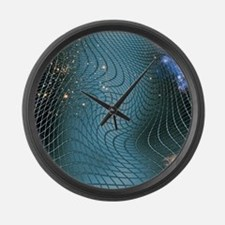 Gravity waves in space-time, artw Large Wall Clock