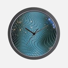 Gravity waves in space-time, artwork Wall Clock
