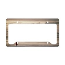 drift blowing across sea ice  License Plate Holder