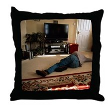 Domestic accident Throw Pillow