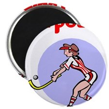 Girl Power Field Hockey Magnet