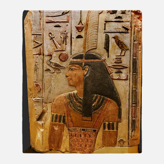 Goddess Maat Throw Blanket