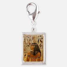 Goddess Maat Silver Portrait Charm