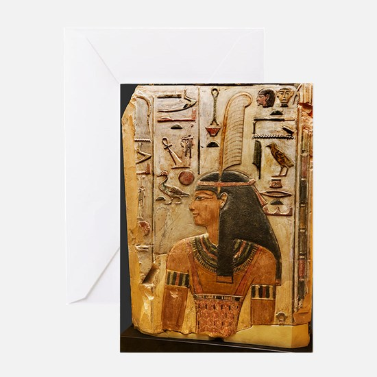 Goddess Maat Greeting Card